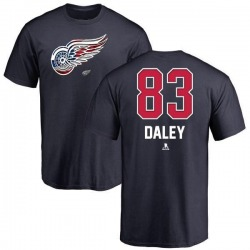 Men's Trevor Daley Detroit Red Wings Name and Number Banner Wave T-Shirt - Navy