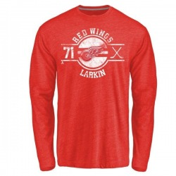 Youth Dylan Larkin Detroit Red Wings Insignia Tri-Blend Long Sleeve T-Shirt - Red