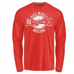 Youth Frans Nielsen Detroit Red Wings Insignia Tri-Blend Long Sleeve T-Shirt - Red